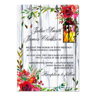 Romantic Roses Wedding Card