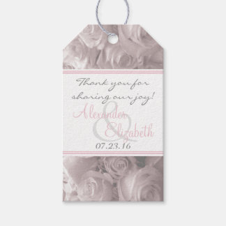 Romantic Roses Wedding Guest Favor Gift Tags