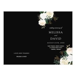 Romantic Roses Wedding Programs