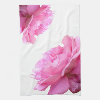 Romantic Roses White Floral Kitchen / Hand Towel