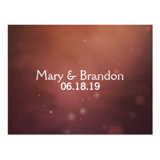 Romantic Rosy Gold Universe Nebula Postcard