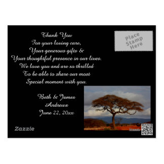 Romantic Safari Africa Bridal Thank You Cards