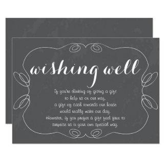 Romantic Script Chalkboard Wishing Well Cards
