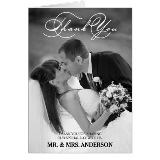 ROMANTIC SCRIPT | WEDDING THANK YOU PHOTO CARD