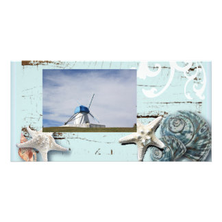 Romantic Seashells Beach Wedding PhotoCard Photo Greeting Card