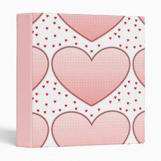 Romantic Shabby Chic Hearts Binder
