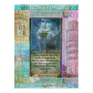 Romantic Shakespeare quote from Romeo and Juliet. Postcard