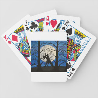 Romantic silhouette dancers bicycle playing cards