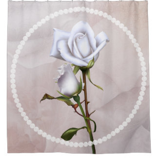 Romantic Soft White Roses Elegant Floral Chic