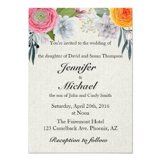 Romantic Southwest Wedding Invitation