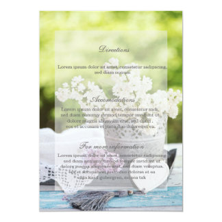 Romantic Spring Flower Floral Lilac Wedding Card