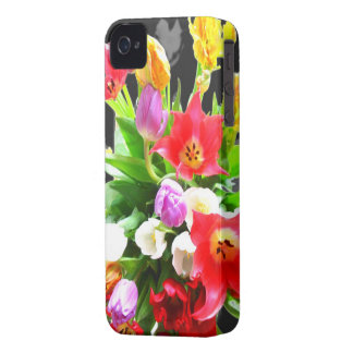 Romantic Spring Tulips Flowers iPhone 4 Case