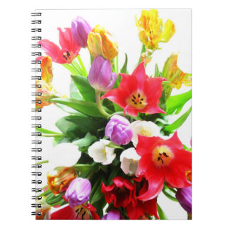 Romantic Spring Tulips Flowers Note Books