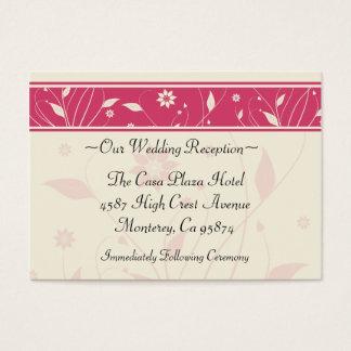 Romantic Spring Wedding Reception Card