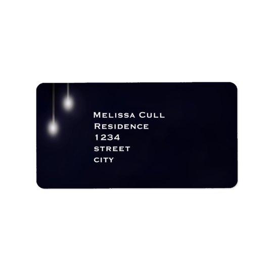 Romantic Street Light Blue Return Address Label