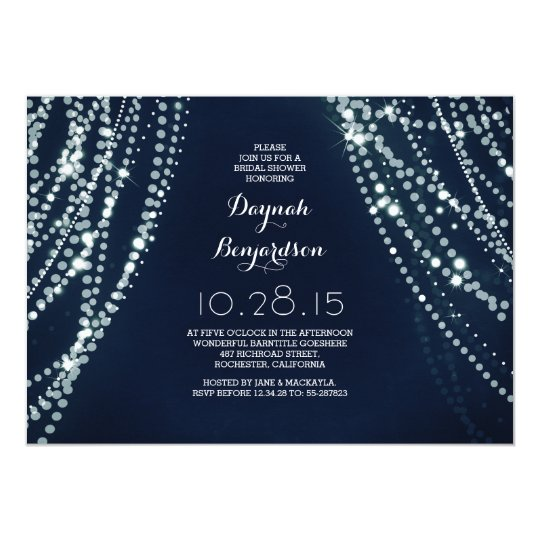 Romantic String Lights Bridal Shower Invitation