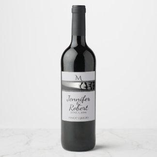 Romantic Stroll Monogram in Silver Grey Wine Label