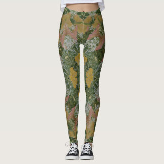 Romantic Summer Garden Mandala Leggings