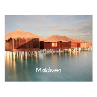 Romantic Sunrise Maldives Beach Bungalows Souvenir Postcard