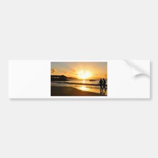 Romantic sunset bumper sticker
