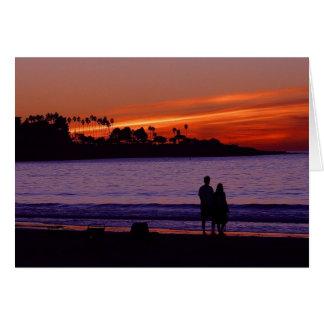 Romantic Sunset Notecard