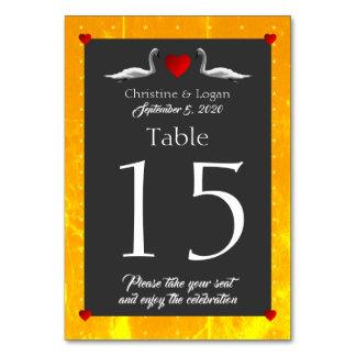 Romantic Swan Wedding Table Cards