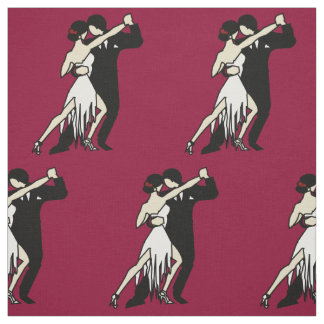 Romantic Tango Dancers Fabric