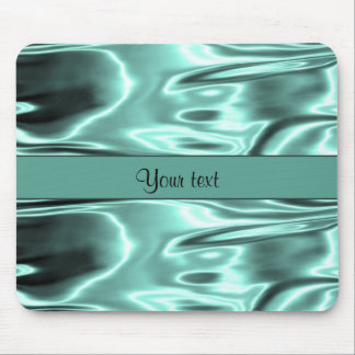 Romantic Teal Satin Mouse Pad