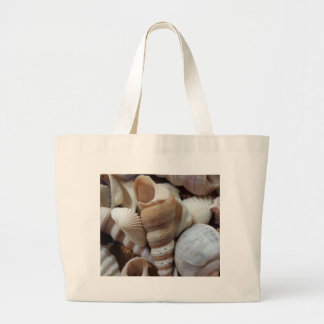 Romantic Tropical Exotic Sea Shells Beach Love Large Tote Bag