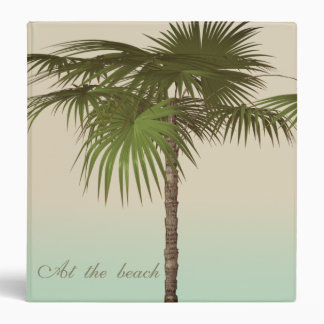 Romantic Tropical Palm Tree 3 Ring Binders