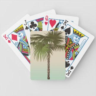 Romantic Tropical Palm Tree Poker Deck
