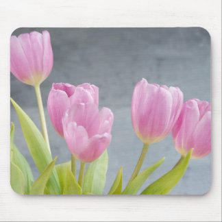 Romantic tulips bouquet mousepad
