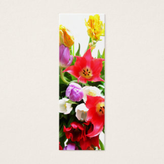 Romantic Tulips Mini Business Card