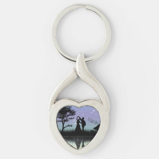 Romantic Twisted Heart Keychain