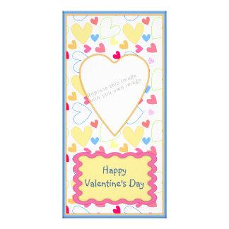 Romantic Valentine design Photo Card Template