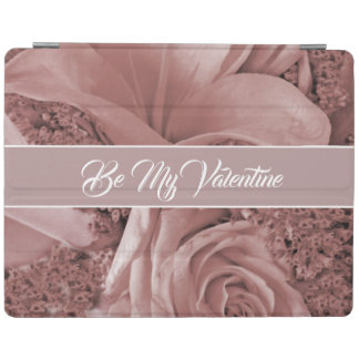 Romantic Valentines Day Dusty Rose and Lily iPad Cover