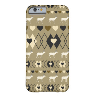 Romantic Valentine's Day pattern with deer Barely There iPhone 6 Case