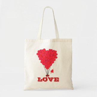 Romantic valentines love budget tote bag