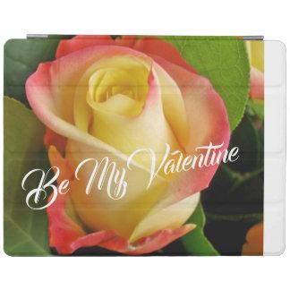 Romantic Valentines Yellow & Pink Rose iPad Cover