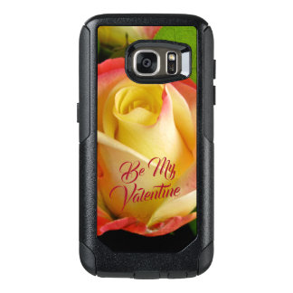 Romantic Valentines Yellow & Pink Rose OtterBox Samsung Galaxy S7 Case