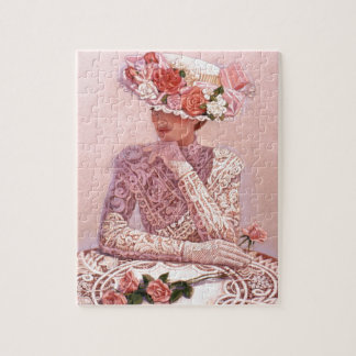 Romantic Victorian Lady Jigsaw Puzzle