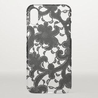 Romantic Vintage Black Lace iPhone X Case