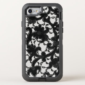 Romantic Vintage Black Lace OtterBox Defender iPhone 8/7 Case