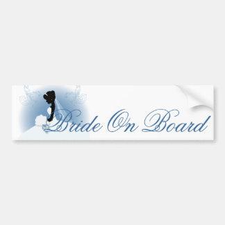 romantic vintage bride silhouette bridal shower bumper sticker