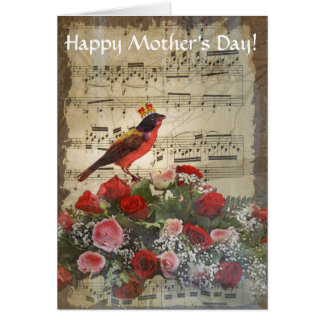 Romantic vintage collage mothers day card