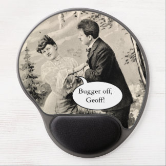Romantic vintage lovers on a boat gel mouse pad