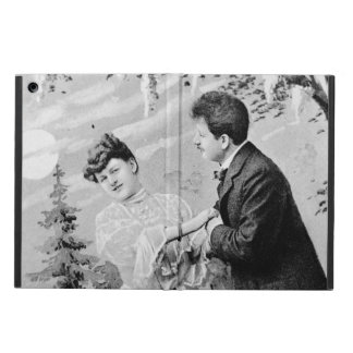 Romantic vintage lovers on a boat iPad air case