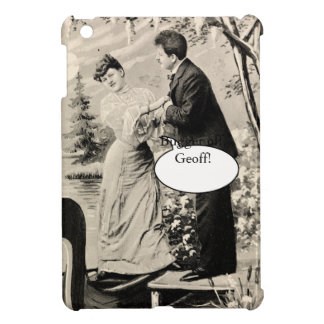 Romantic vintage lovers on a boat iPad mini cover