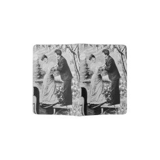 Romantic vintage lovers on a boat passport holder