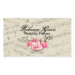 romantic Vintage musicnotes modern boutique Business Cards